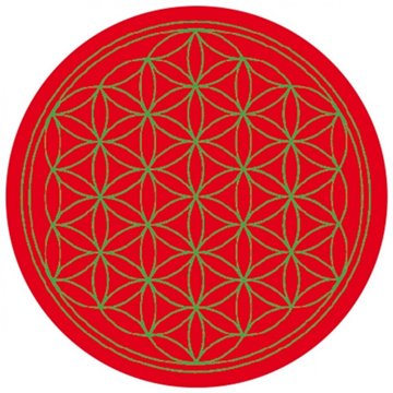 Bild von Aufkleber Blume des Lebens Komplementärfarben rot-grün 9.5 cm
